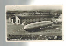 1934 Germany Graf Zeppelin Flown Postcard RPPC Real Picture Postcard Cover