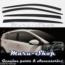 Smoke Door Window Vent Visor Deflector for 17+ Kia Sportage