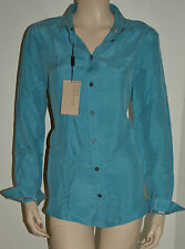 NWT BURBERRY LONDON WOMENS COTTON CHECK SHIRT BLOUSE SZ LARGE
