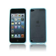 Blue  Bumper Frame TPU Silicone Case Skin Cover Apple ipod Touch 5+Free Screen