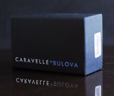 Caravelle By Bulova Watch Box Matte Black With Papers For Men's/Women's Watches