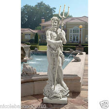 "62"" LIFE SIZE ANCIENT Roman God of the Sea Neptune Garden HOME SCULPTURE"