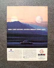 [GCG] L402- Advertising Pubblicità - GEMINI E EUROP ASSISTANCE,CAR ALARM SYSTEM