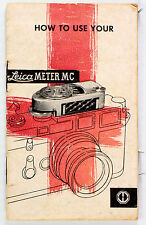 Original Leica Instructions Meter MC - 16 pages - no print date