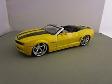 JADA 1/24 BIGTIME MUSCLE YELLOW 2007 CHEVY CAMARO CONVERTIBLE CONCEPT NEW NO BOX