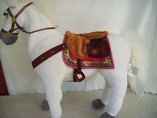 "DISNEY STORE 15"" WHITE PLUSH STUFFED RAPUNZEL TANGLED EXCLUSIVE MAXIMUS HORSE"
