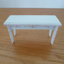 Doll House  Painted White Wood Sideboard Dresser  Pink Trim