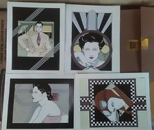 Lot of 4 Patrick Nagel , poster prints, ITT Canon, plate signed, new unopened.