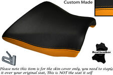 BLACK & ORANGE CUSTOM FITS KAWASAKI Z750 Z1000 04-06 DESIGN 2 FRONT SEAT COVER