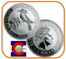 2000 Australia Kookaburra 1 oz. Silver Coin - BU direct from Perth Mint roll