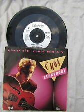 EDDIE COCHRAN C'MON EVERYBODY reissue and plays awesome!!!  pop '60's 45 rpm
