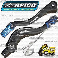 Apico Negro Azul Pedal De Freno Trasero & Gear Palanca Para KTM SXF 350 2014 Motocross