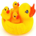 Baby Bathing Developmental Toys Water Floating Squeaky Yellow Rubber Ducks