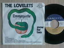 "THE LOVELETS - EMMANUELLE - 45 GIRI 7"" ITALY"