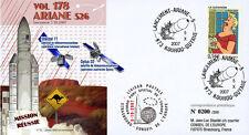 "V178LT2 FDC KOUROU ""ARIANE 5 Rocket - Flight 178 / OPTUS D2 / TINTIN"" 2007"