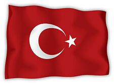 Turchia Turkey Türkei Turquie bandiera etichetta flag sticker 15cm x 11cm