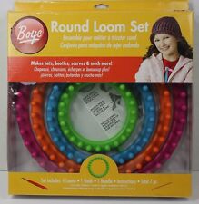 Boye Round Loom Set 4 Looms & Instructions Make Christmas Gifts Hats Scarves