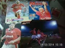 middlesbrough football pictures x4 ravanelli hignett & team line-up robson A4s