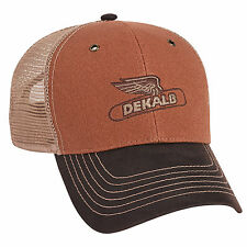 DEKALB SEED *TRI COLOR CANVAS MESH* Trademark Logo CAP HAT *BRAND NEW* DS18
