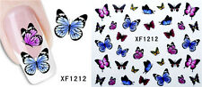 XF1212 Water Transfer Decals Sticker Nail Art Manicure Tips 3D Flower Decor 05