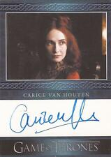 """GAME Of Thrones Stagione 3-Carice VAN HOUTEN """"Melisandre"""" AUTOGRAFO CARD"""
