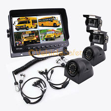 "4AV TRAILER CABLE 9"" MONITOR BACKUP SYSTEM SAFETY REAR VIEW CAMERAS FOR TRUCK"