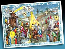 SCHÖNER ALTER ADVENTSKALENDER   BIBLISCHE SZENERIE   KORSCH UNBENUTZT