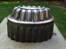 Victorian Antique Copper/Tin Jelly Cake Dessert Mold Fluted Dome Design