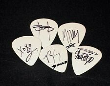 """MY CHEMICAL ROMANCE HAND SIGNED """"ALL 5"""" GUITAR PLECTRUMS"""