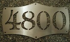 Custom Metal Wall aRT with Initials or House Numbers sIGN Deco CNC CAD design SS