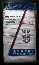 THE HUNTER BRIEFS FOR MEN 3 IN A BAG SIZE SMALL 28-30 100% COTTON