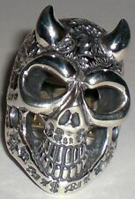 BILL WALL R347 GRAFFITI DEMON MASTER SKULL RING F*CK B-CROWN $ HATE BWL size 10