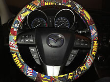 Marvel Comics Steering Wheel/Seatbelt Cover Combo w/Iron Man, Captain America
