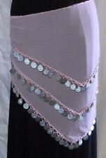 Pink Belly Dance Hip Scarf Triangle Hips Scarf Skirt Costume 55-60 inch Hips