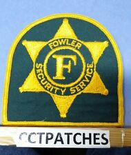 FOWLER SECURITY SERVICE (POLICE) SHOULDER PATCH