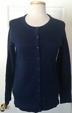$70 NWT Womens Tommy Hilfiger Kelly Slim Fit Knit Cardigan Sweater Navy M