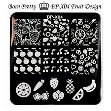 BORN PRETTY Nail Art Stamp Template Image Stamping Plates Fruit 6*6cm BP-X04