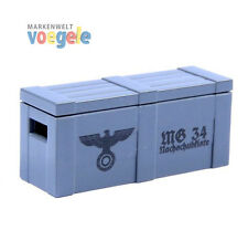 Brickarms WW2 Ammunition box grey with print for LEGO figures NEW