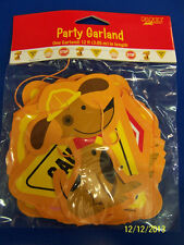 Rescue Pals Construction Dog Kids Birthday Party Decoration Printed Garland