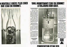 PUBLICITE ADVERTISING  1980   SEB   le purificateur (2 pages)