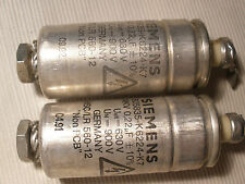2 x SIEMENS 0.22uF 630 V Capacitor For 2A3 245 50 VT25 VT52 300B SE AMPLIFIER ?