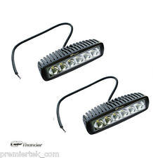 2X 6.3 inches Off Road 18W CREE LED Fog Lamp Work Light Bar SUV 4x4 Jeep 4WD DRL