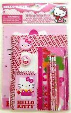 HELLO KITTY 11 PIECE STATIONARY SCHOOL SUPPLY CARRYING POUCH SANRIO-BRAND NEW!