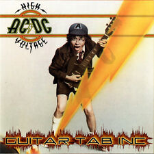 AC/DC Guitar Tab HIGH VOLTAGE Lessons on Disc Angus Young