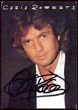 autographe de CHRIS ROBERTS . chanteur