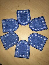 US ARMY MILITARY BLUE FLASH PATCH FOR BLACK BERET DRESS UNIFORM - LOT OF 6 - EUC