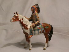 Old Beswick Indian Chief on Pinto Skewbald Pony horse Statue figurine England
