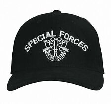 9296 Rothco Military Special Forces Hat - Black Cotton