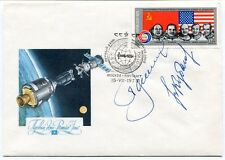 1975 Premier Jour Mockba Apollo COIO3 SPACE NASA USA SAT SIGNED