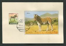 ANGOLA MK 1957 FAUNA ZEBRA ZEBRE MAXIMUMKARTE CARTE MAXIMUM CARD MC CM d3757